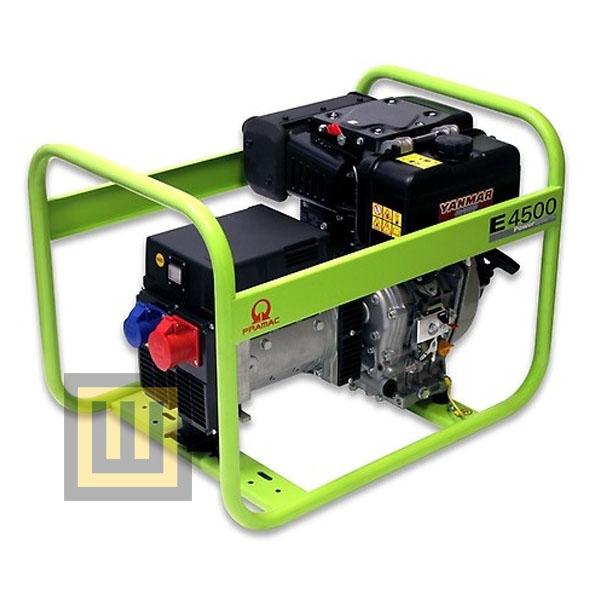 Agregat prądotwórczy PRAMAC E 4500 - moc 4,7 kVA 3~/3,1 kVA 1~ DIESEL
