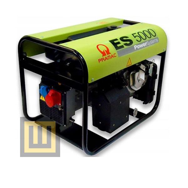 Agregat prądotwórczy PRAMAC ES5000 - moc 6,3 kVA 3~/3,8 kVA 1~