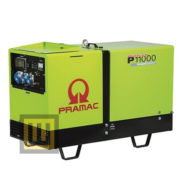 Agregat prądotwórczy PRAMAC P 11000 IPP - moc 10,8 kVA 3~/6,6 kVA 1~ DIESEL