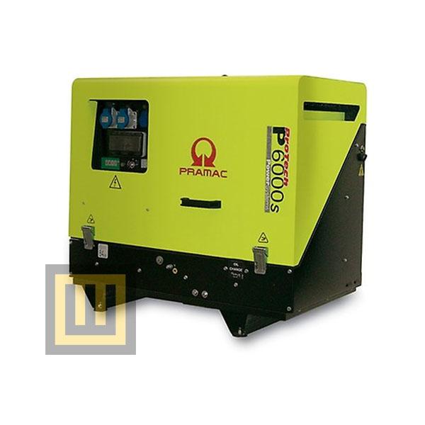 Agregat prądotwórczy PRAMAC  P 6000s - moc 6,9 kVA 3~/3,2 kVA 1~ DIESEL