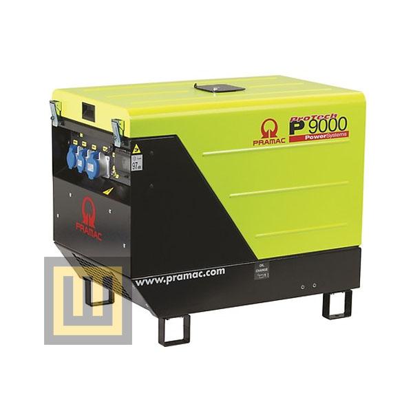 Agregat prądotwórczy PRAMAC P 9000 AVR+IPP - moc 10,6 kVA 3~/5,4 kVA 1~ DIESEL