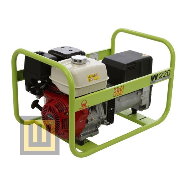 Agregat prądotwórczy PRAMAC W220 - moc 6,1 kVA 3~/2,7 kVA 1~ ( z modulem spawalniczym )
