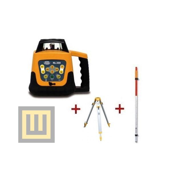 Niwelator laserowy Nivel System NL300 + statyw SJJ1 + łata laserowa 2,4m