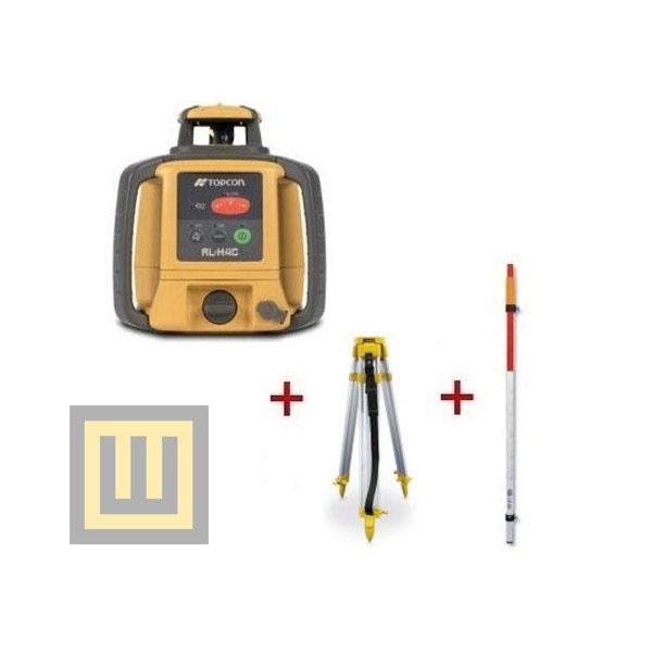 Niwelator laserowy Topcon RL-H4C + statyw SJJ1D + łata laserowa 2,4m
