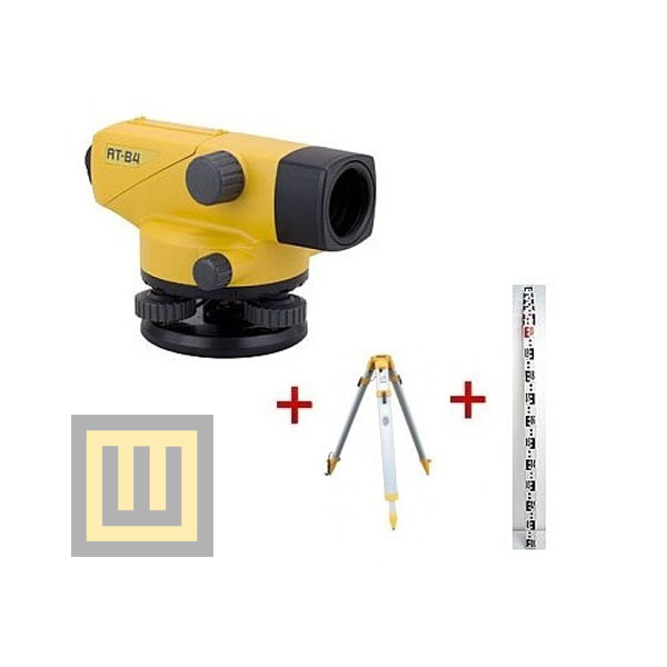 Niwelator optyczny Topcon AT-B4 + statyw + 2 łaty